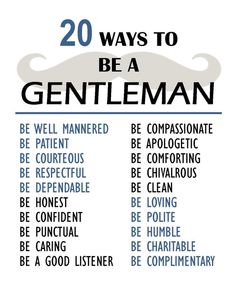 20 Way to be a Gentleman