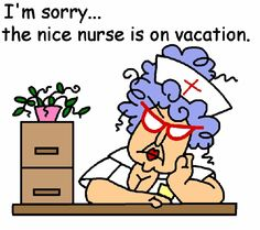 Nice nurse on vacation